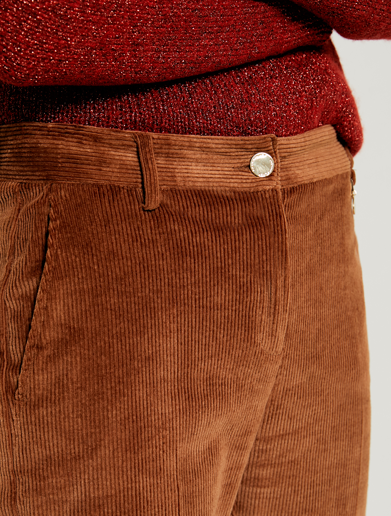 Corduroy trousers - brown - pennyblack
