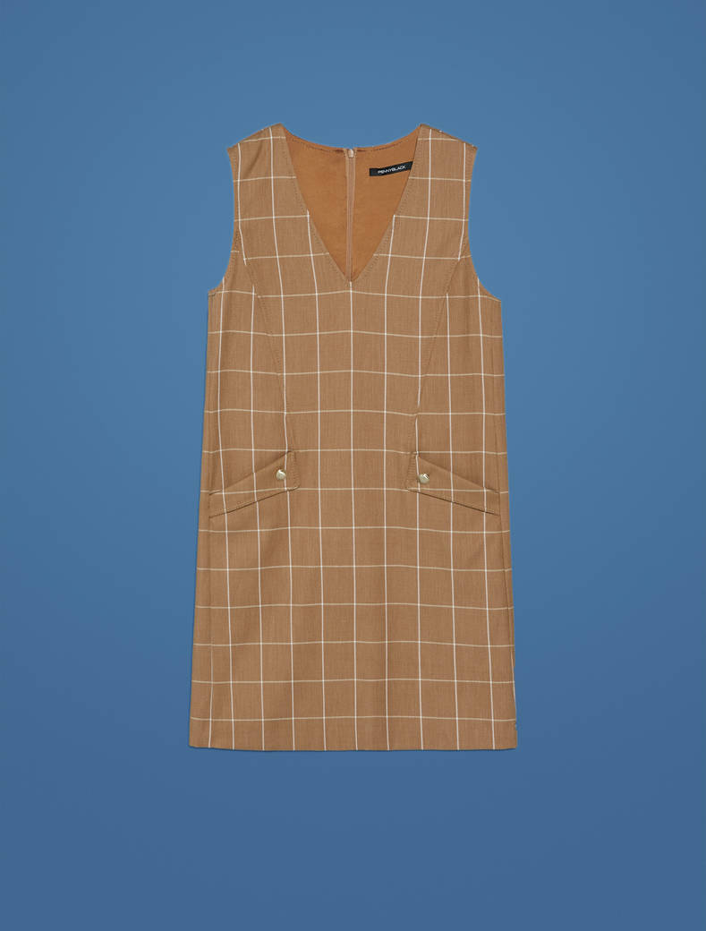 Pinafore dress with graphic design - camel pattern - pennyblack