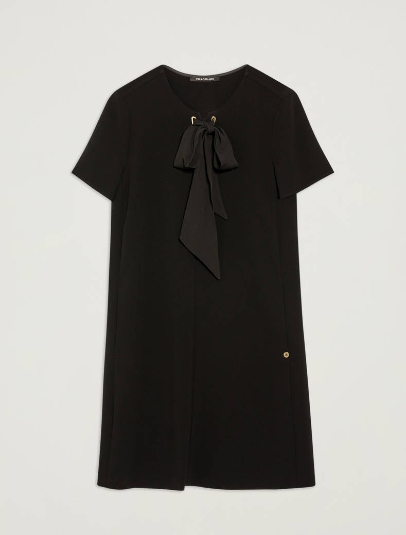 Shift dress con fiocco - nero - pennyblack
