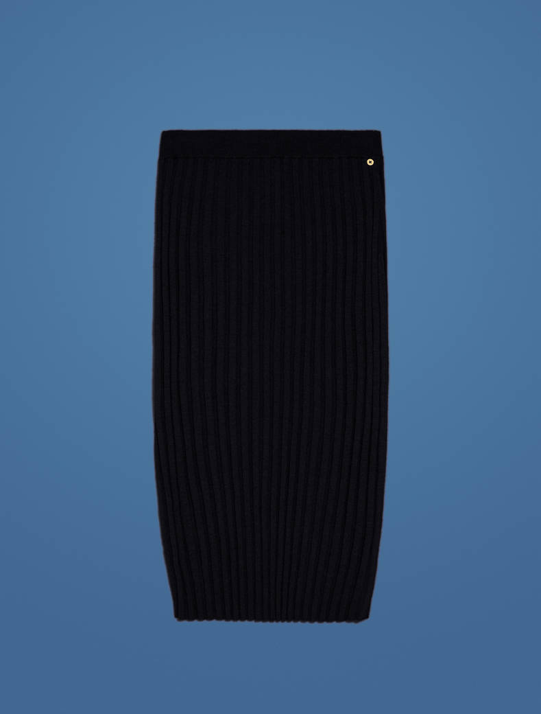 Knit pencil skirt - black - pennyblack