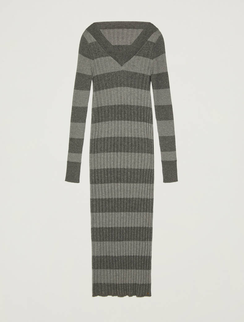 Knit sheath dress - light grey pattern - pennyblack