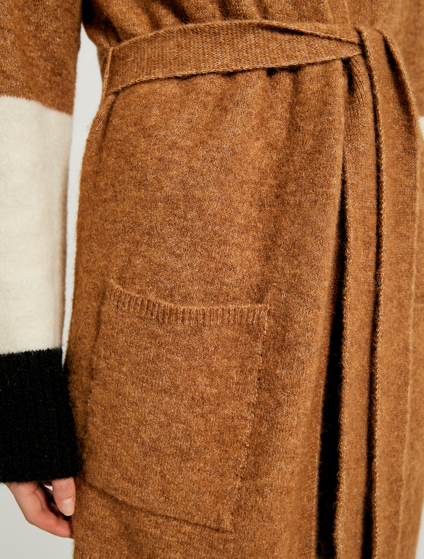 Colour block cardigan - camel - pennyblack