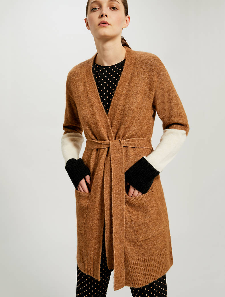 Colour block cardigan - camel - pennyblack