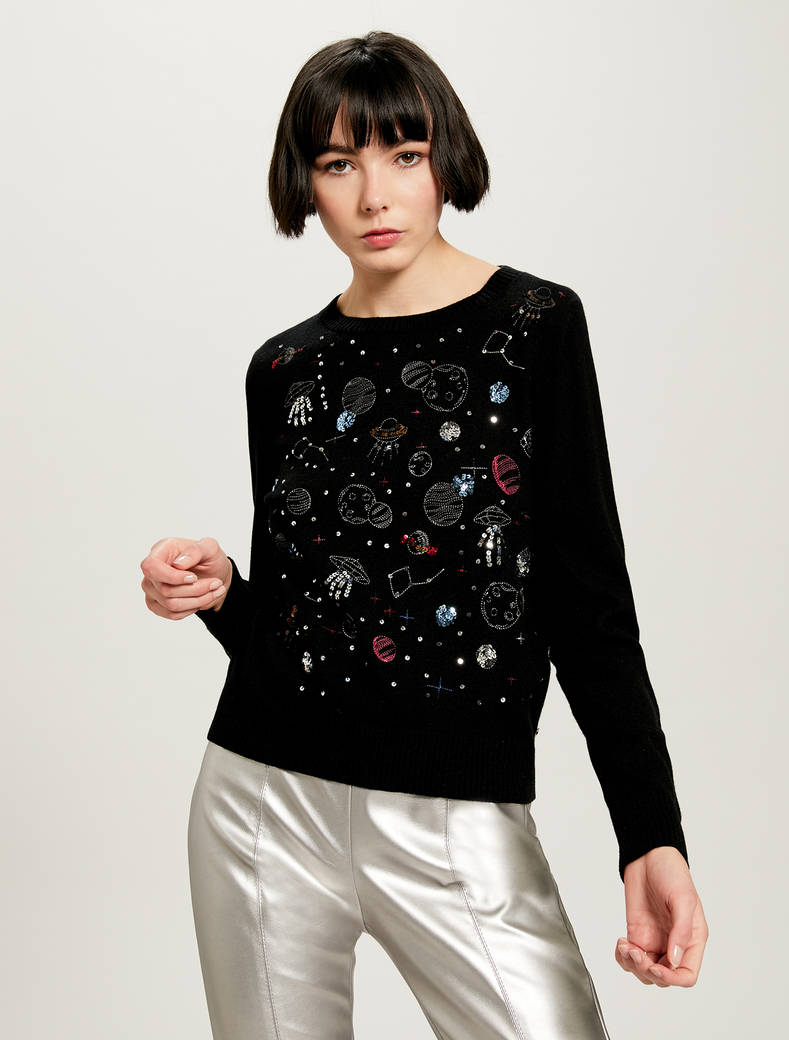 Cosmic Dream @labigotta jumper - black - pennyblack