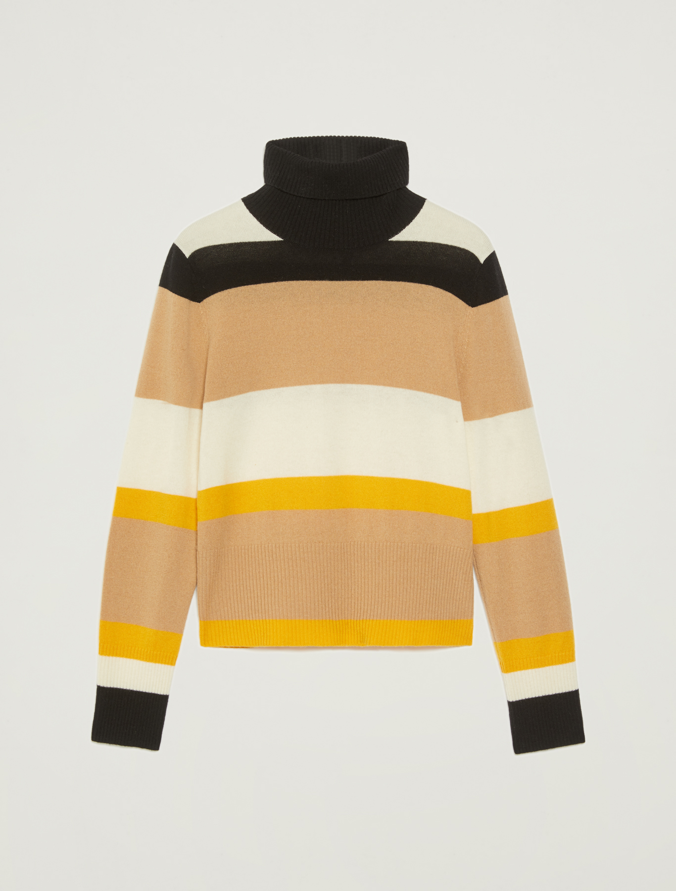 Jumper with turtleneck - soft yellow pattern - pennyblack