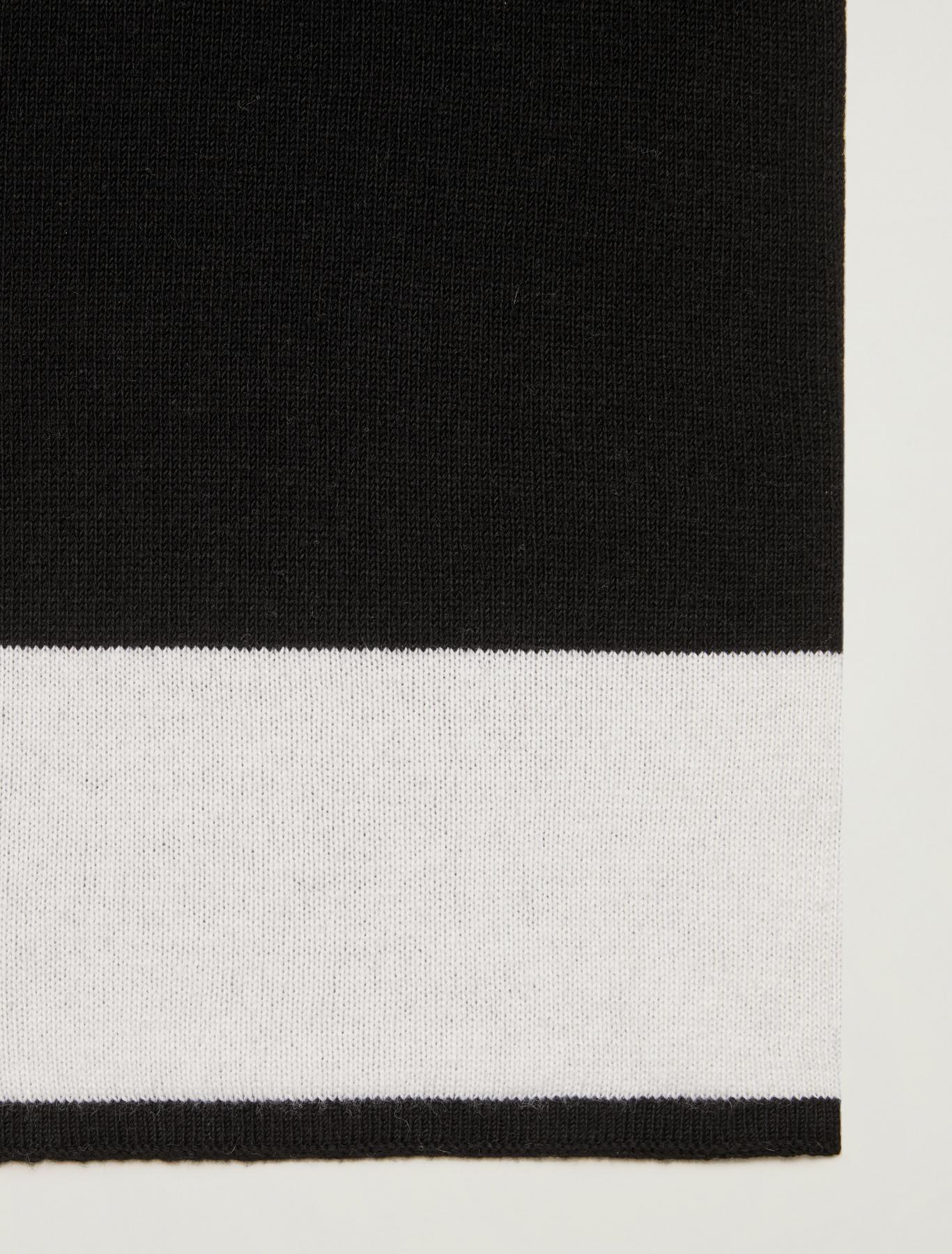 Scarf in colour-block lamé - black - pennyblack