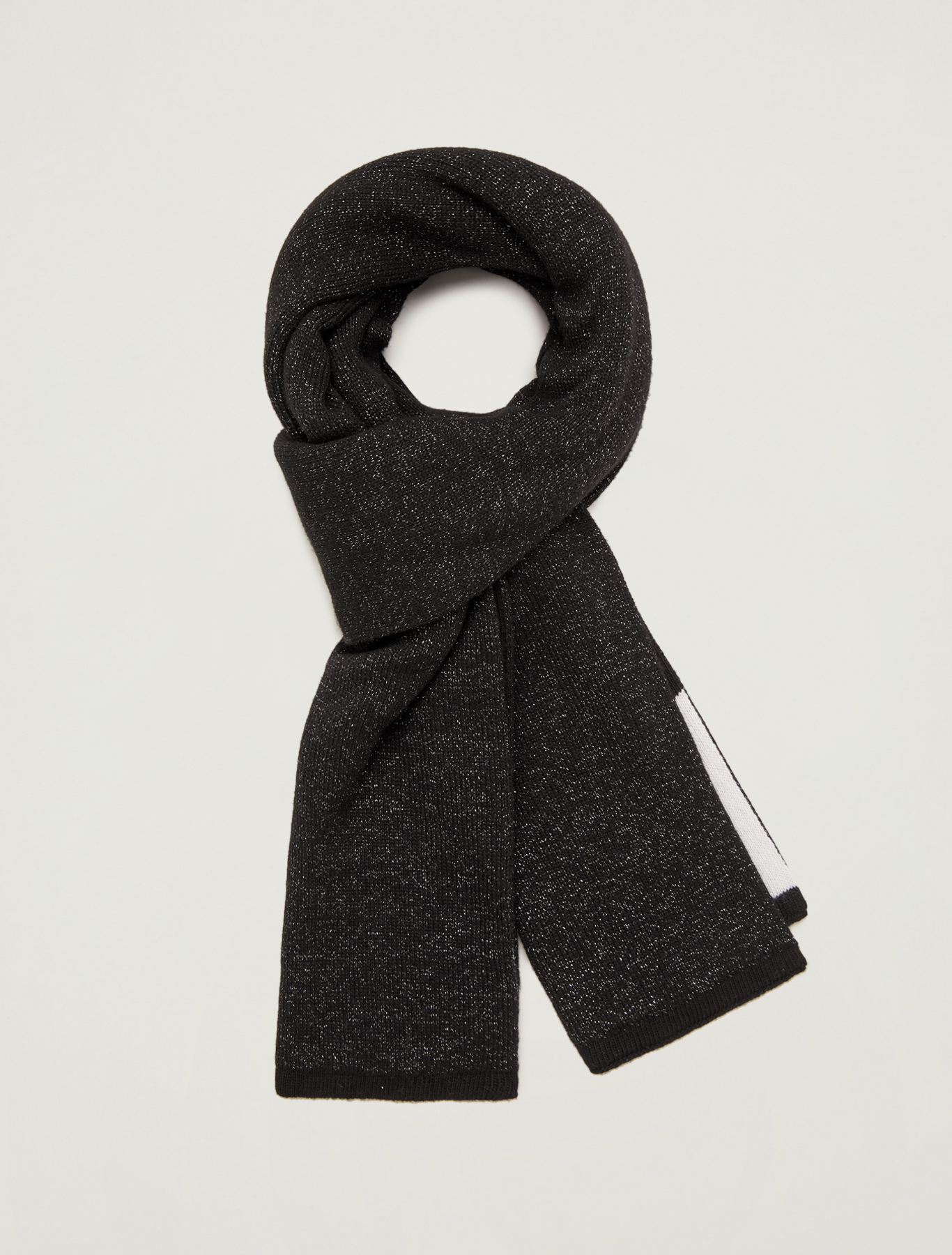 Scarf in colour-block lamé - black - pennyblack