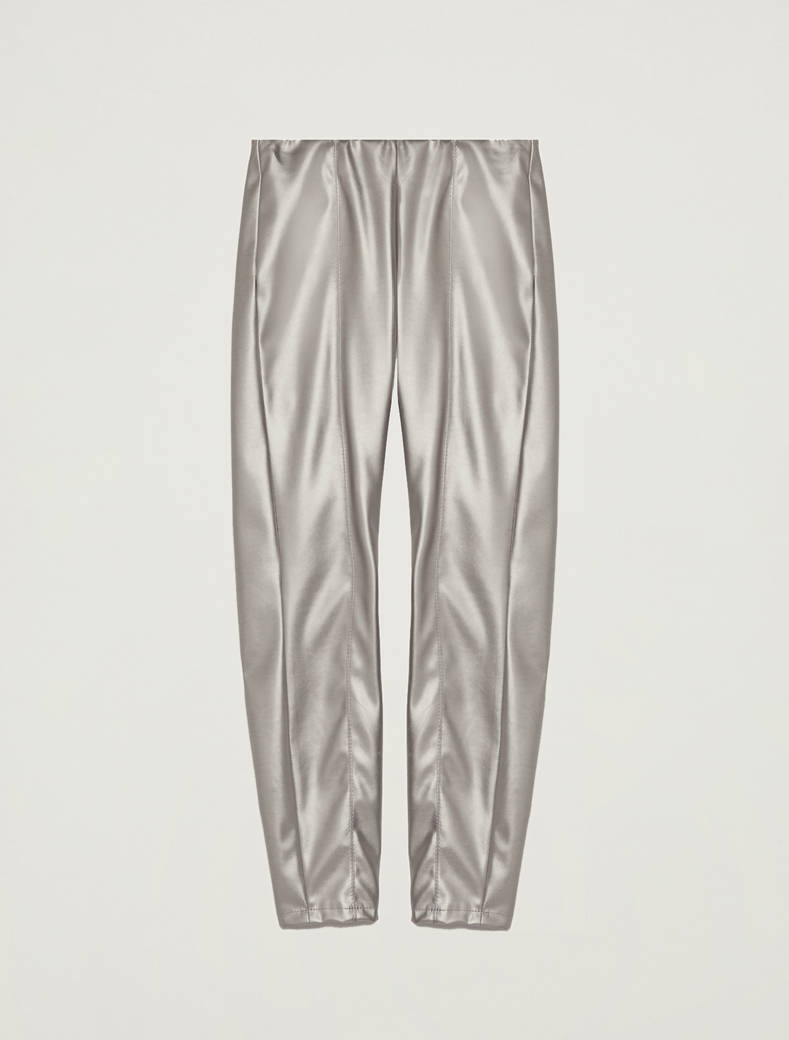 Skinny coated jersey trousers - medium grey - pennyblack