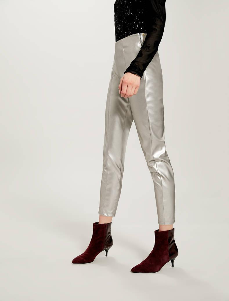 Skinny pants in jersey spalmato - grigio medio - pennyblack