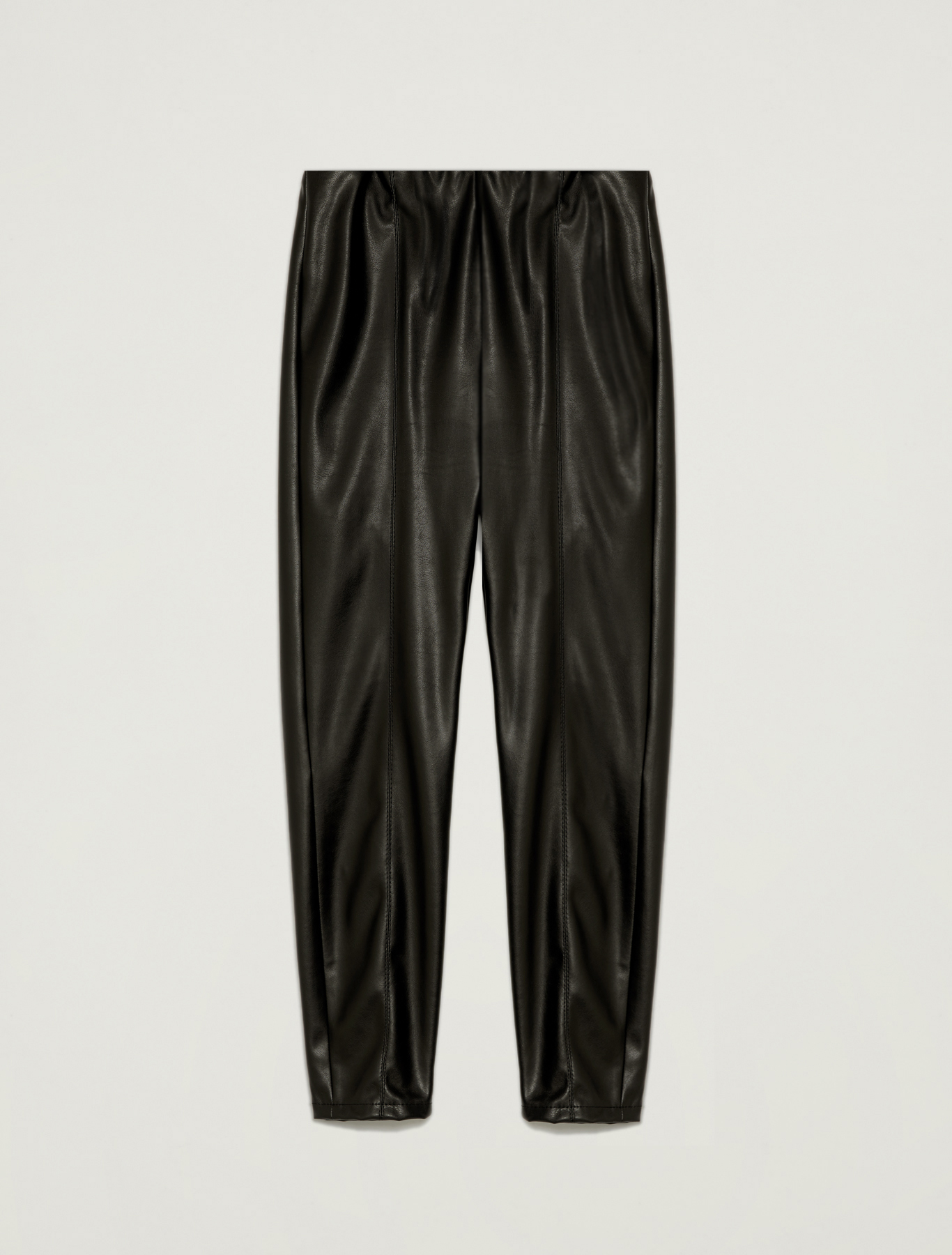 Skinny coated jersey trousers - black - pennyblack