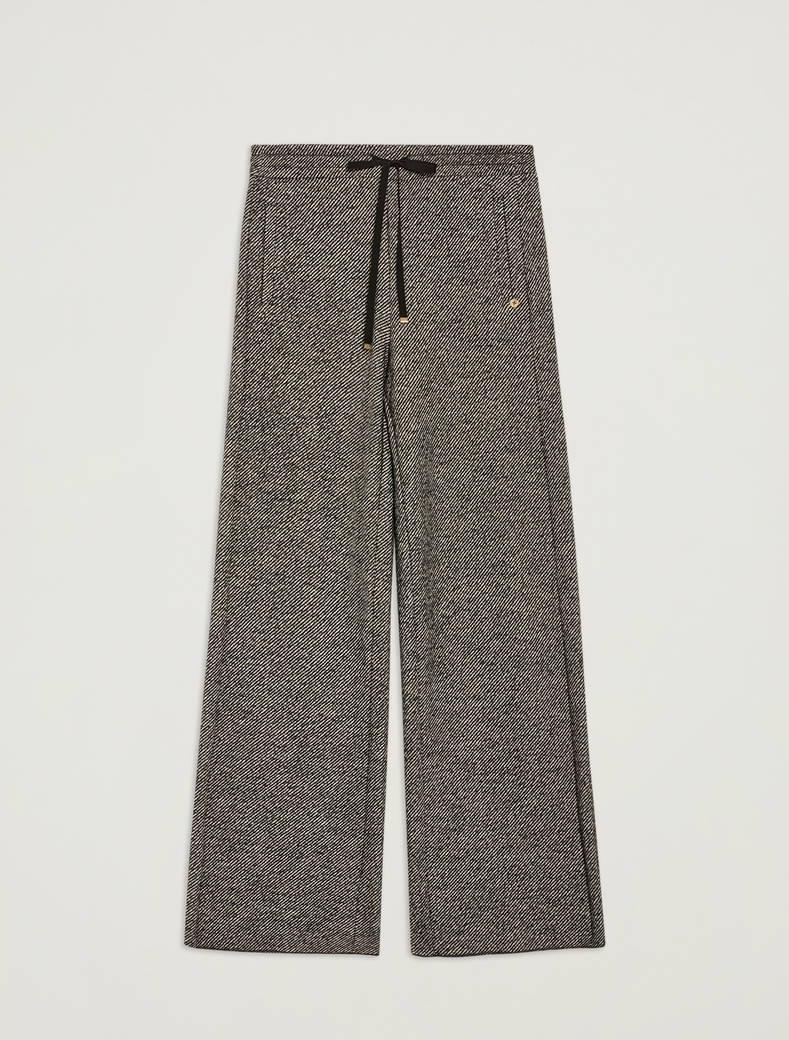 Tweed jersey trousers - black pattern - pennyblack