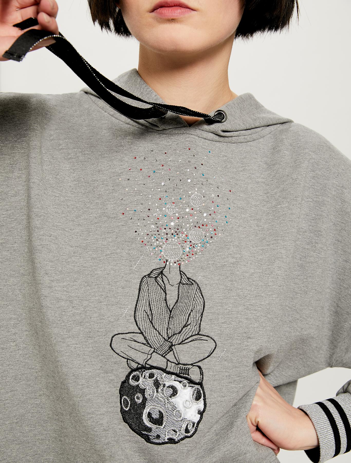 Cosmic Dream @labigotta sweatshirt - dark grey - pennyblack