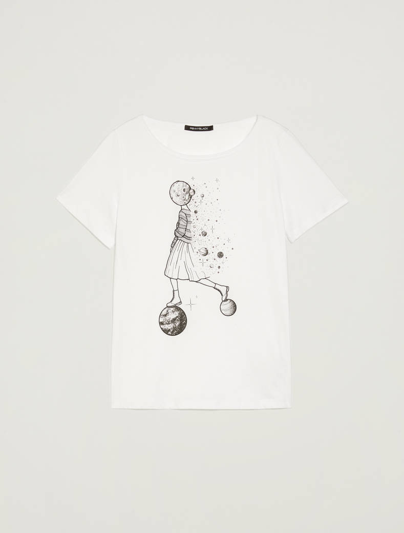 Cosmic Dream @labigotta tee - optic white - pennyblack