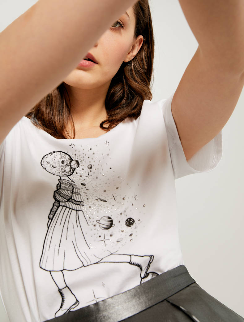 T-shirt Cosmic Dream by La bigotta - bianco ottico - pennyblack