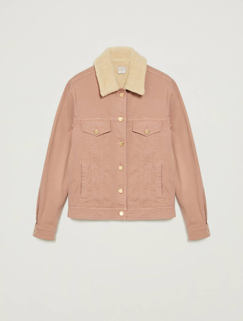 Pink denim and teddy jacket - pink - pennyblack