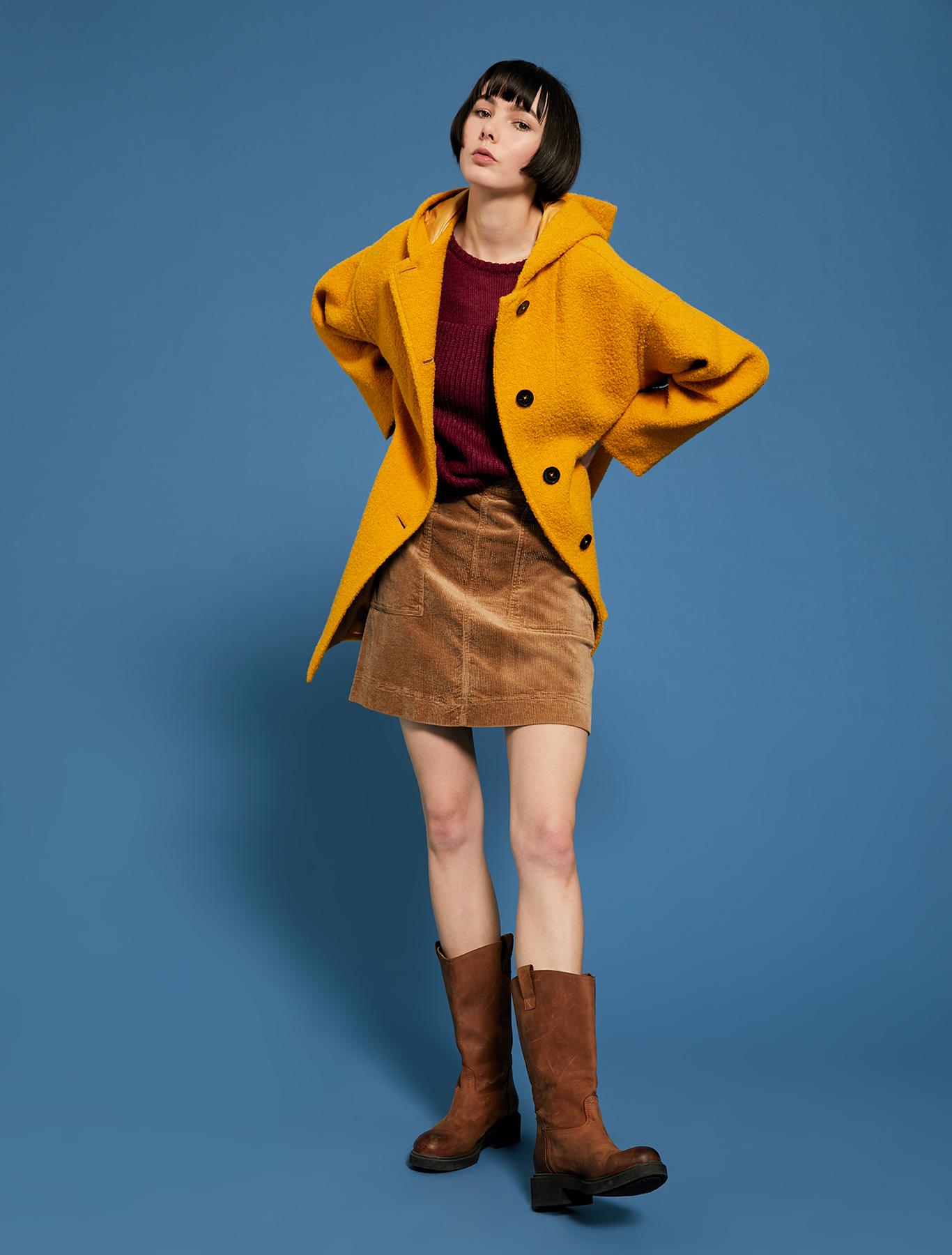 Corduroy skirt - beige - pennyblack