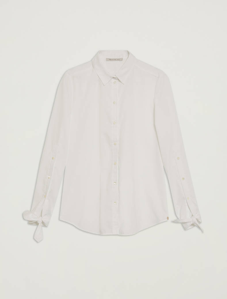 Shirt with bow cuffs - optic white - pennyblack