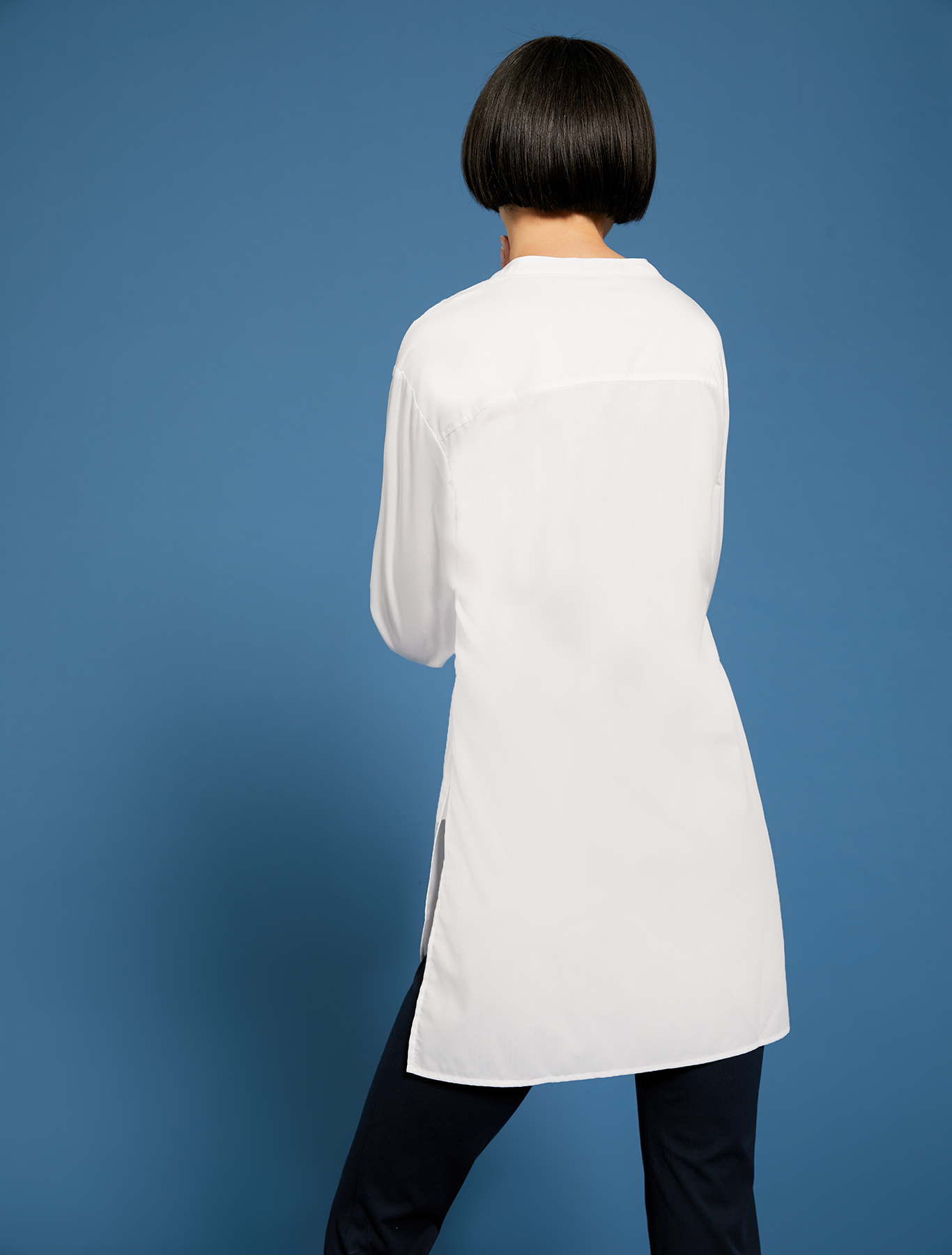 Poplin shirt with bow - optic white - pennyblack