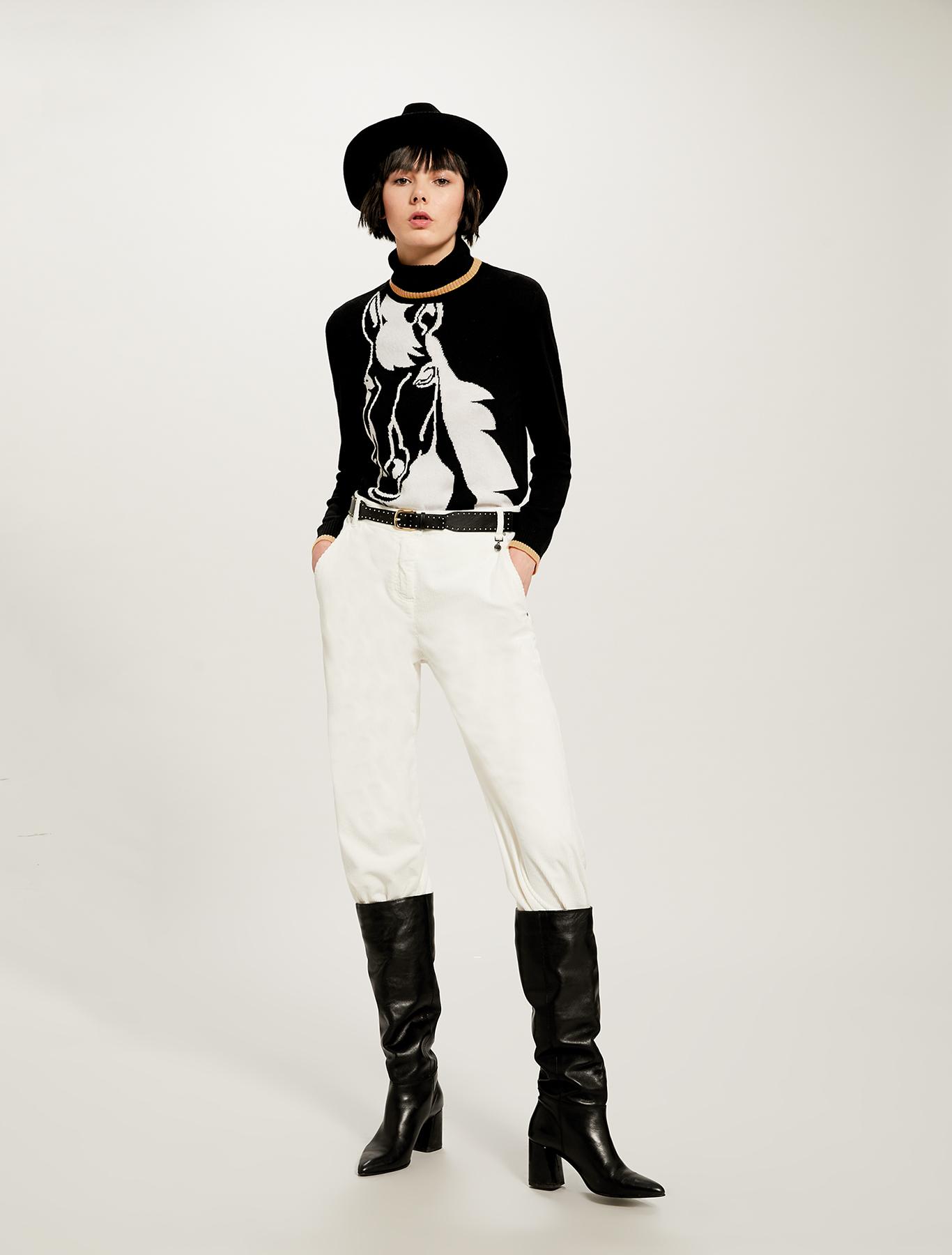 Corduroy trousers - white - pennyblack