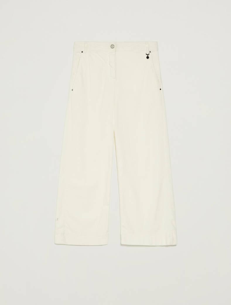 Pantaloni in velluto a coste - bianco - pennyblack
