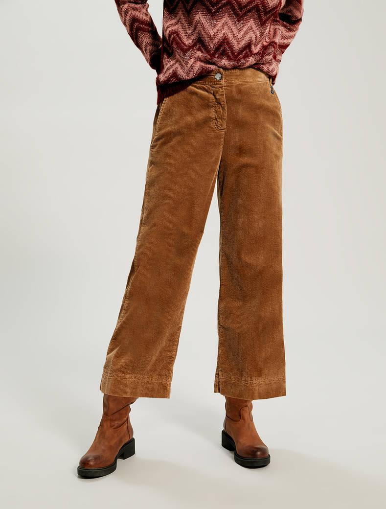 Corduroy trousers - beige - pennyblack