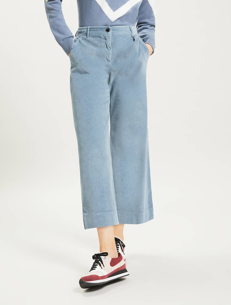 Corduroy trousers - light blue - pennyblack