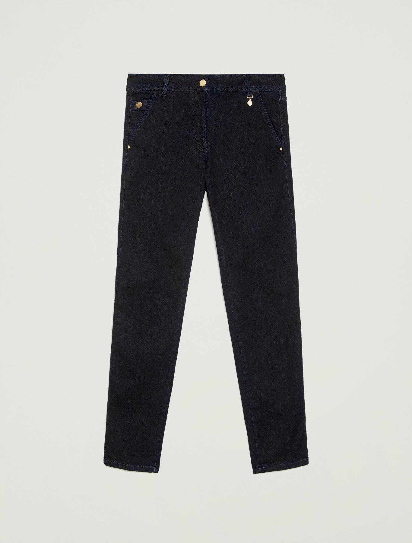 Dark blue slim-fit jeans - midnight blue - pennyblack