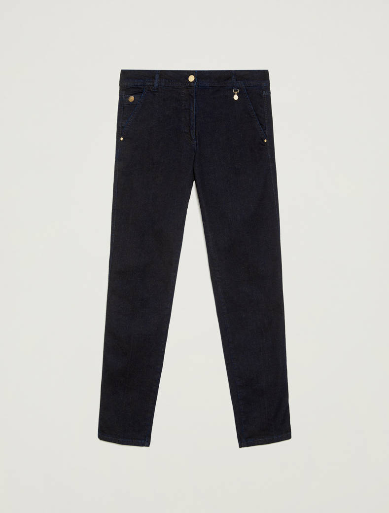 Dark blue slim-fit jeans - midnight blue - pennyblack