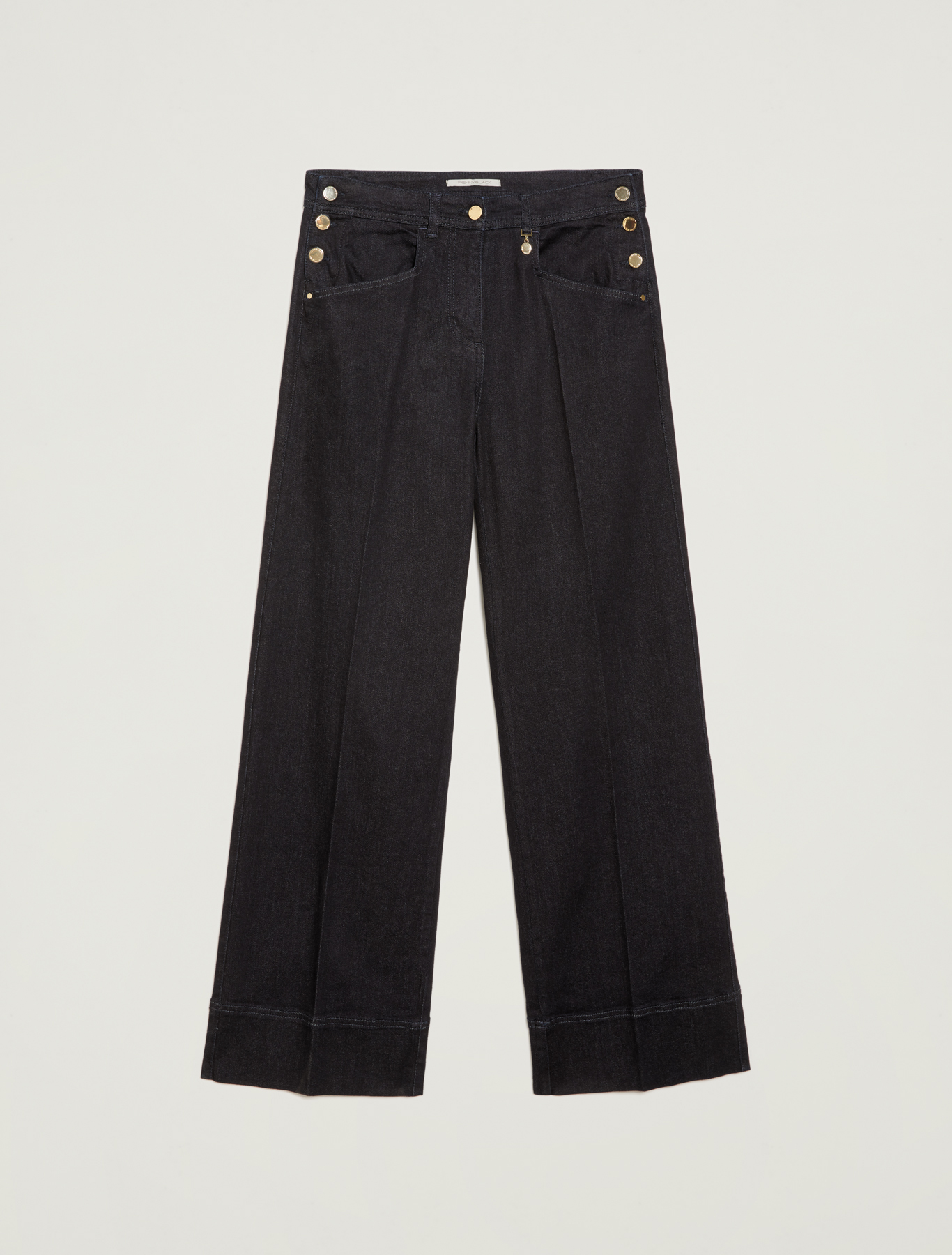 Dark blue wide-leg jeans - midnight blue - pennyblack