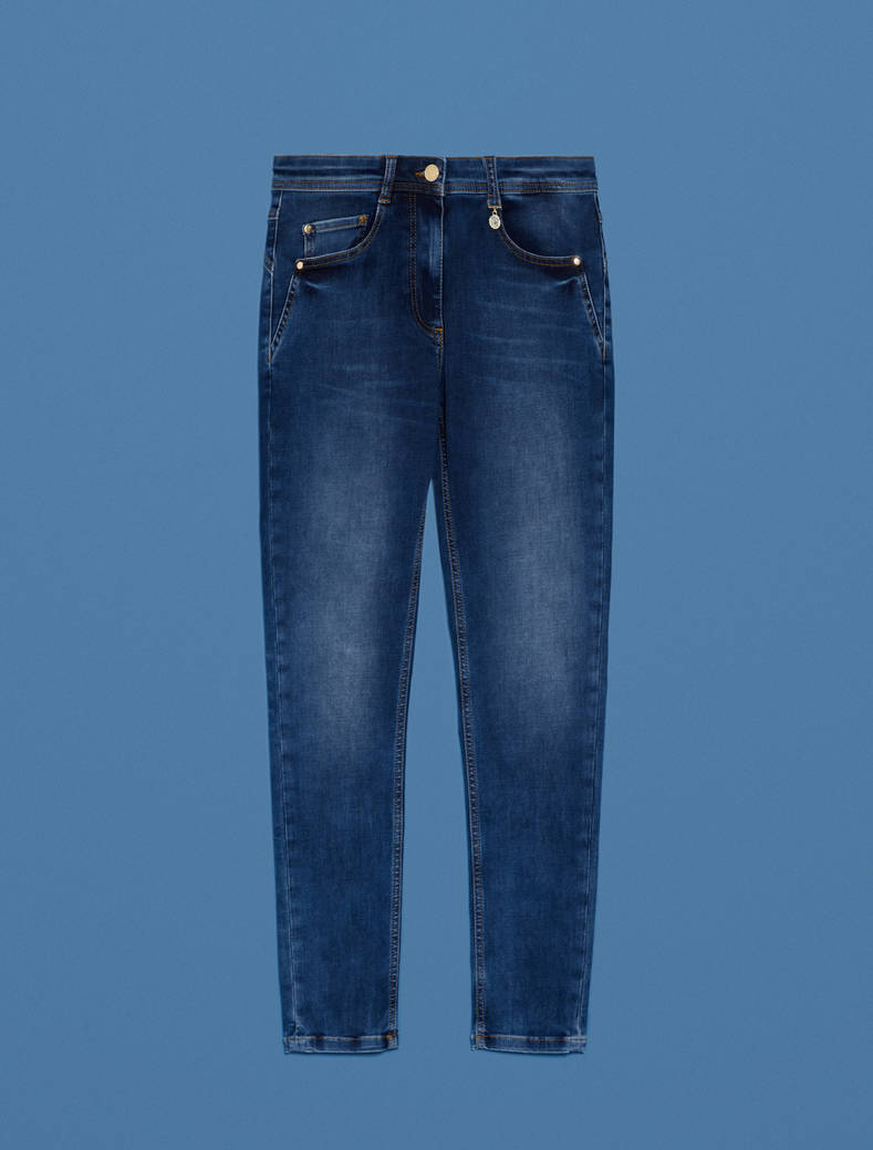Jeans skinny fit super-stretch - blu notte - pennyblack