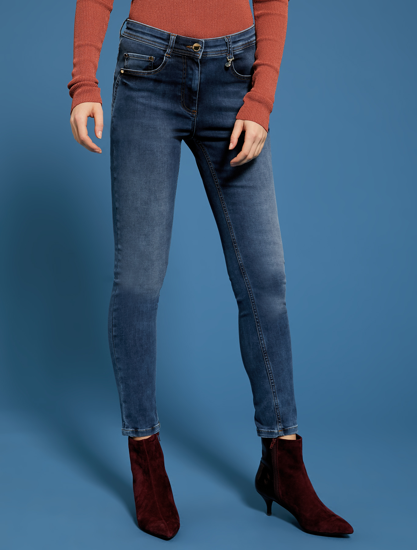Super-stretch skinny jeans - midnight blue - pennyblack