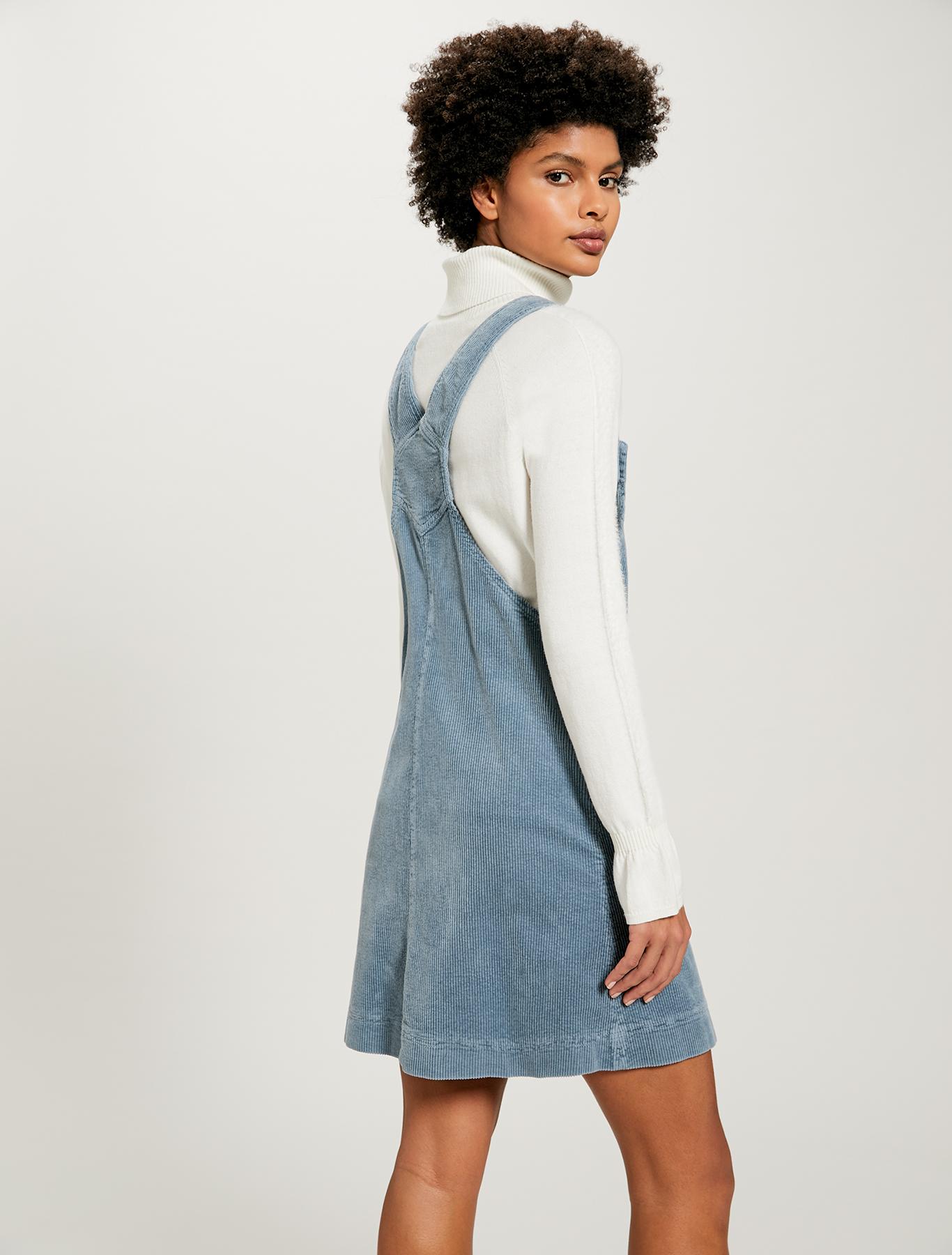 Velvet pinafore dress - light blue - pennyblack