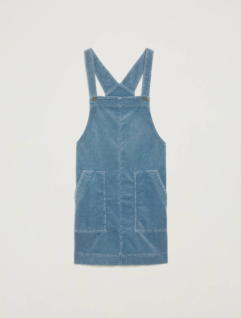 Velvet pinafore dress - light blue - pennyblack