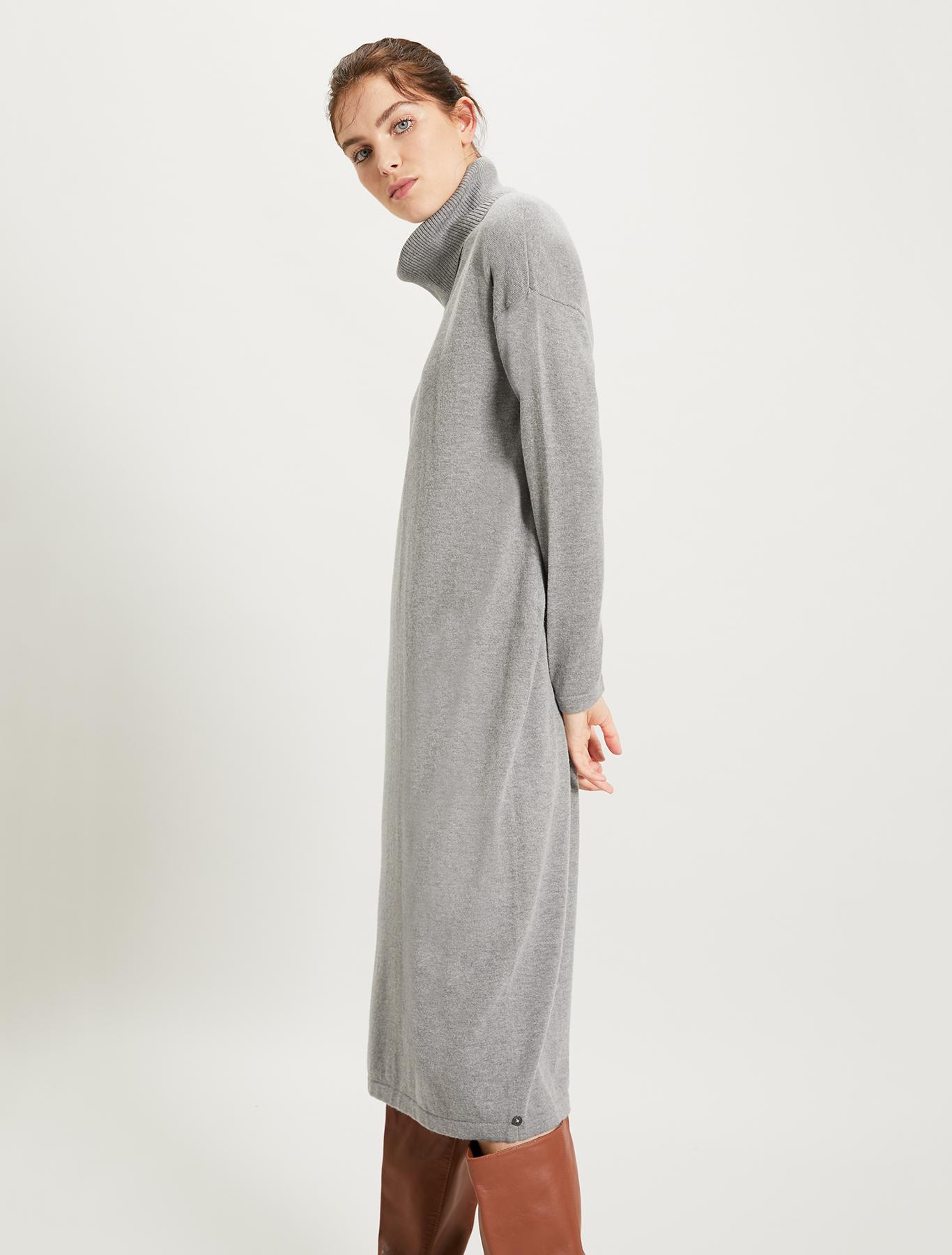 Knit pencil dress - medium grey - pennyblack