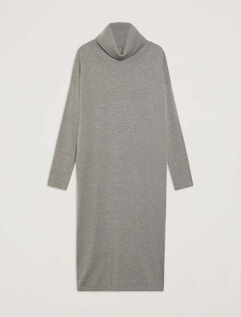 Knit pencil dress - medium grey - pennyblack
