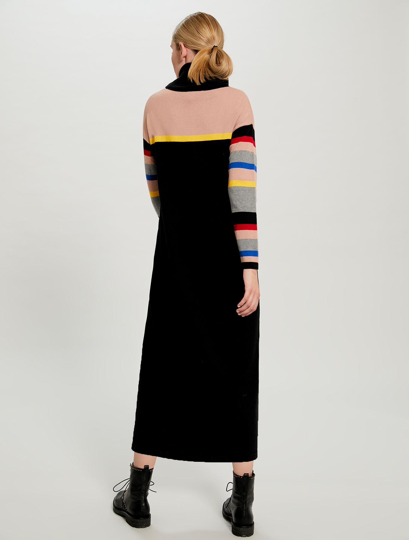 Knit pencil dress - black pattern - pennyblack