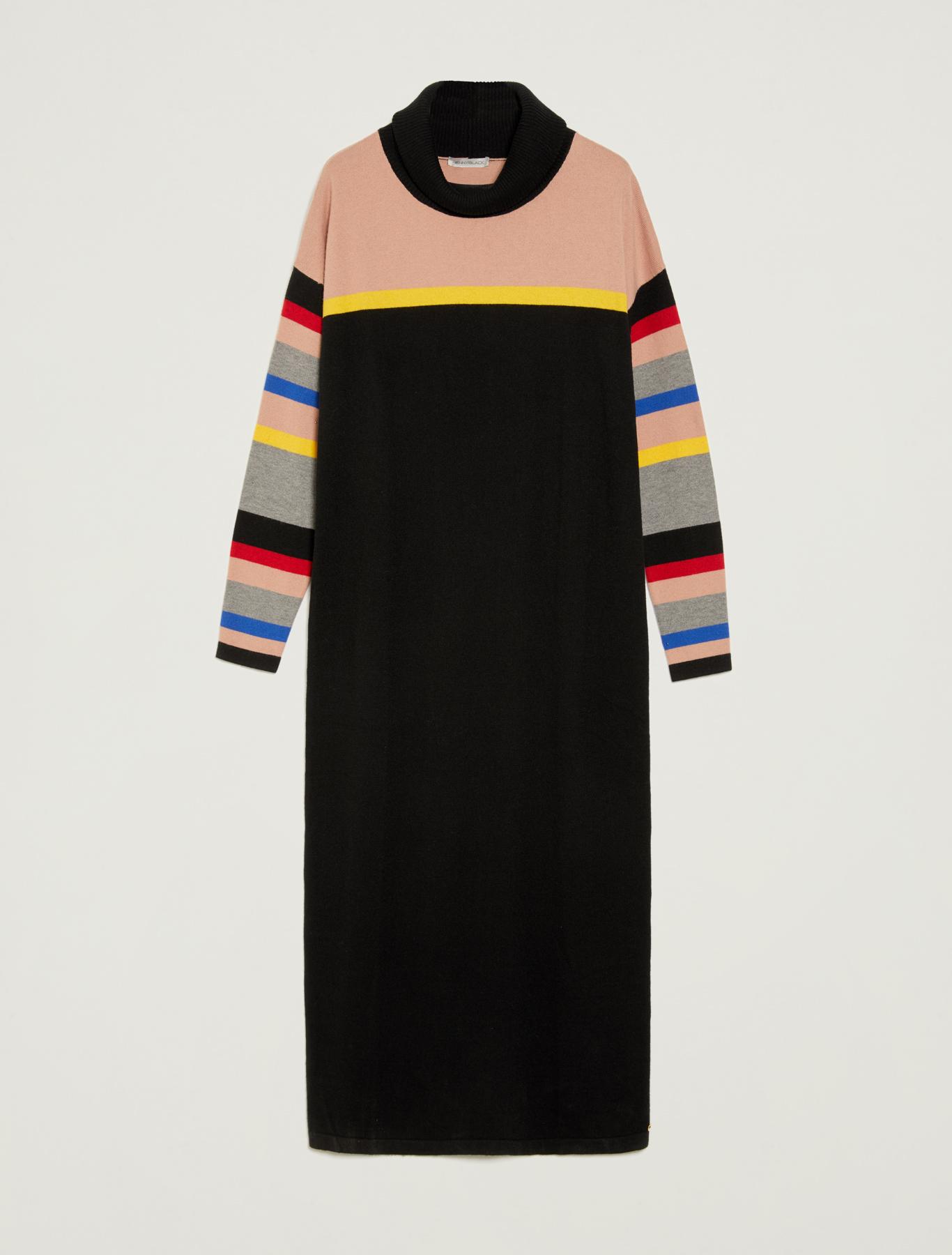 Knit pencil dress - black pattern - pennyblack