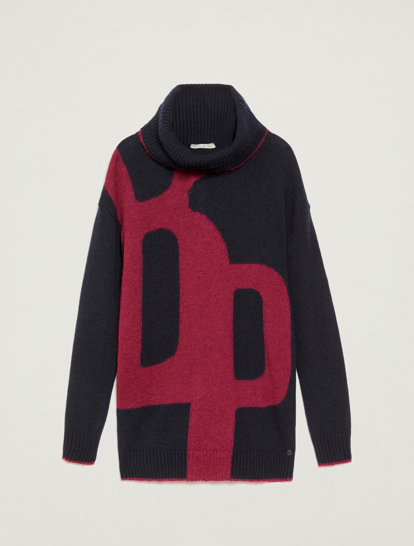 Jumper with lettering inlay - plum - pennyblack
