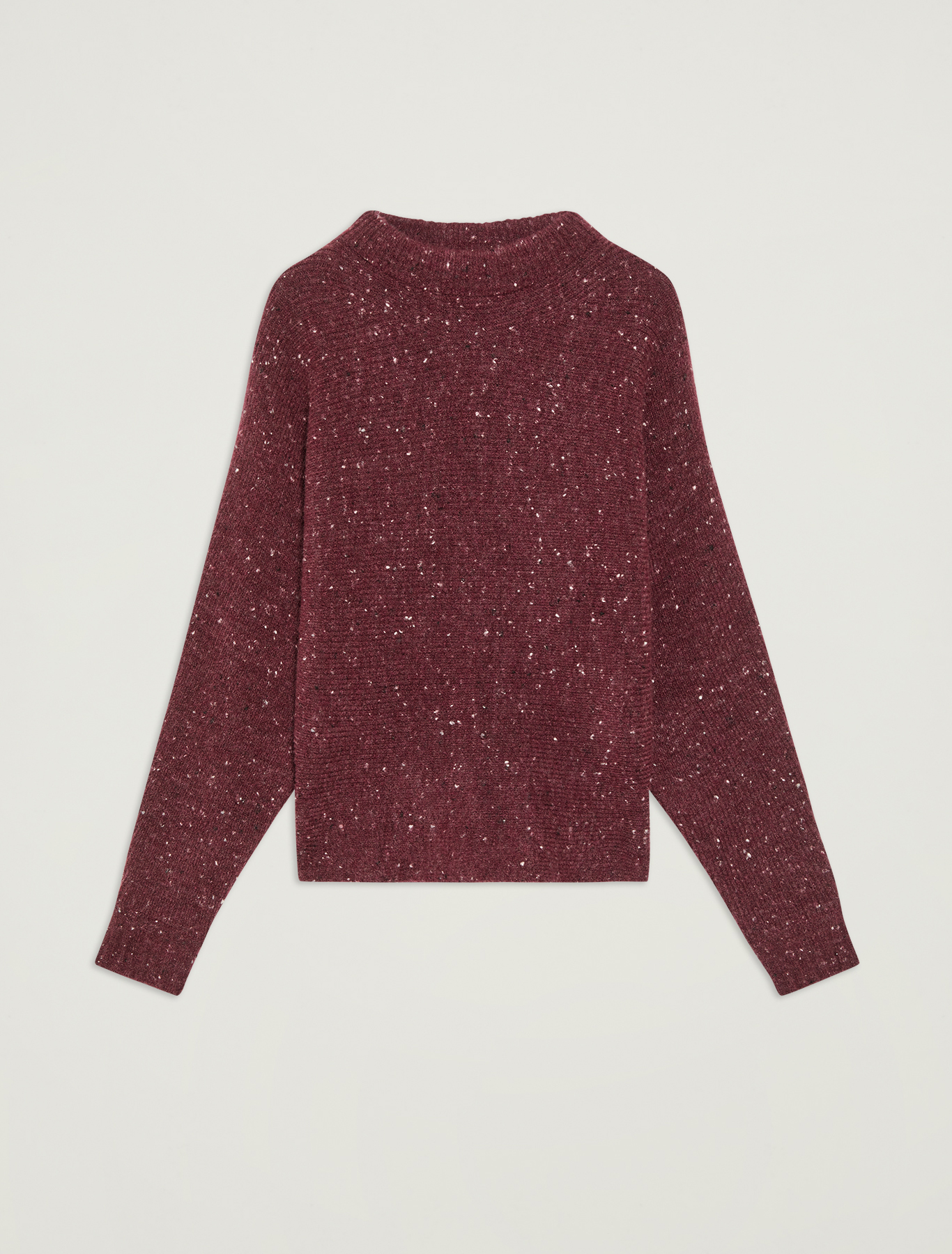 Tweed jumper with bow - plum - pennyblack