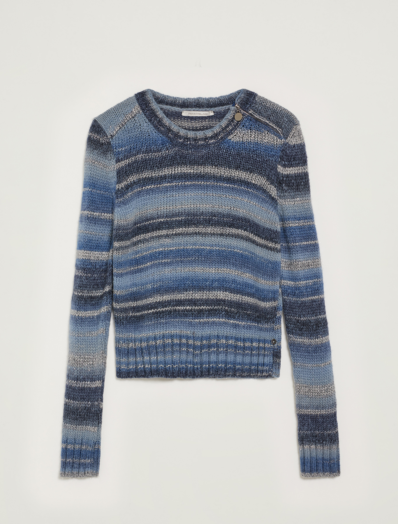 Shaded striped jumper with lamé - light blue - pennyblack