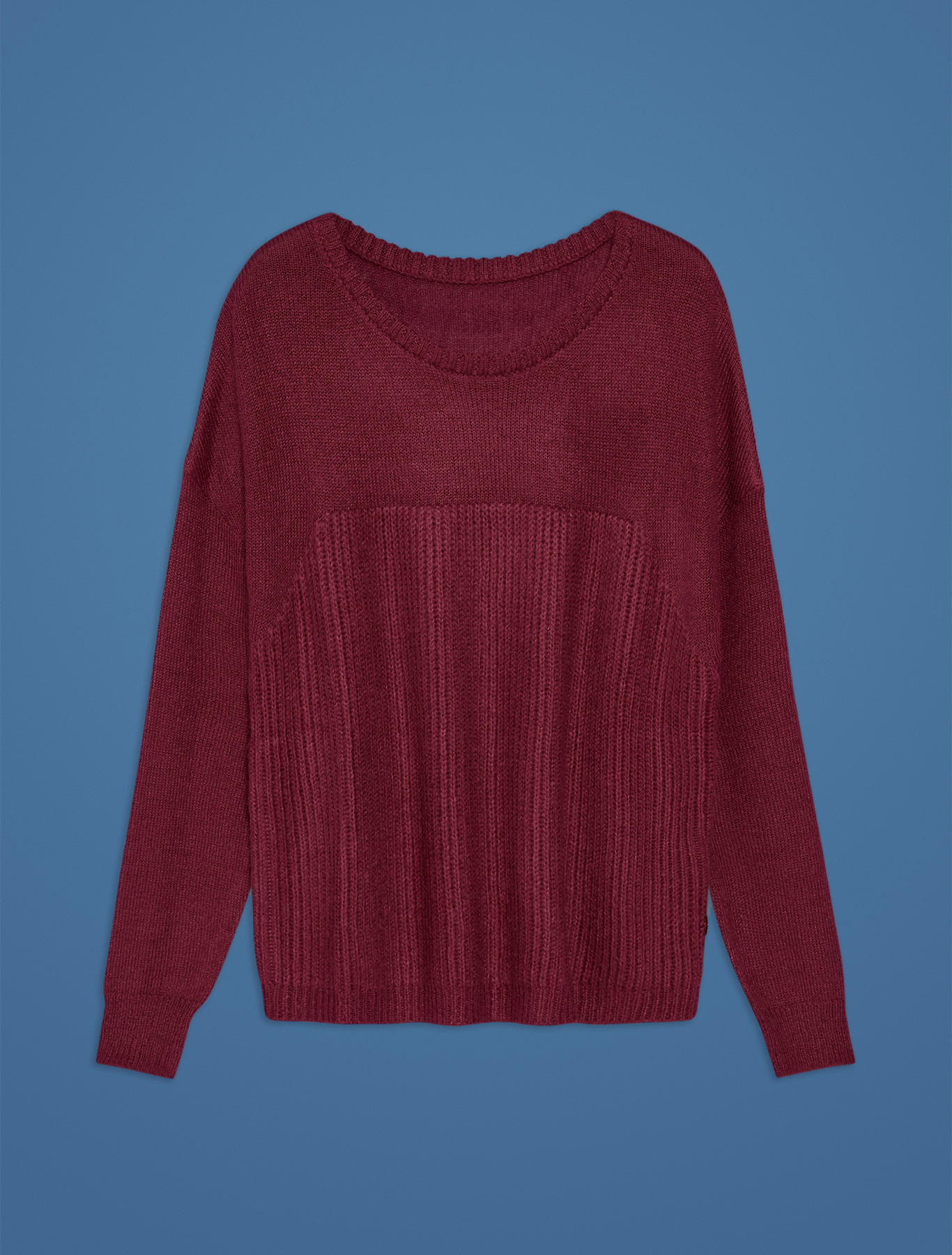 English rib knit jumper - plum - pennyblack
