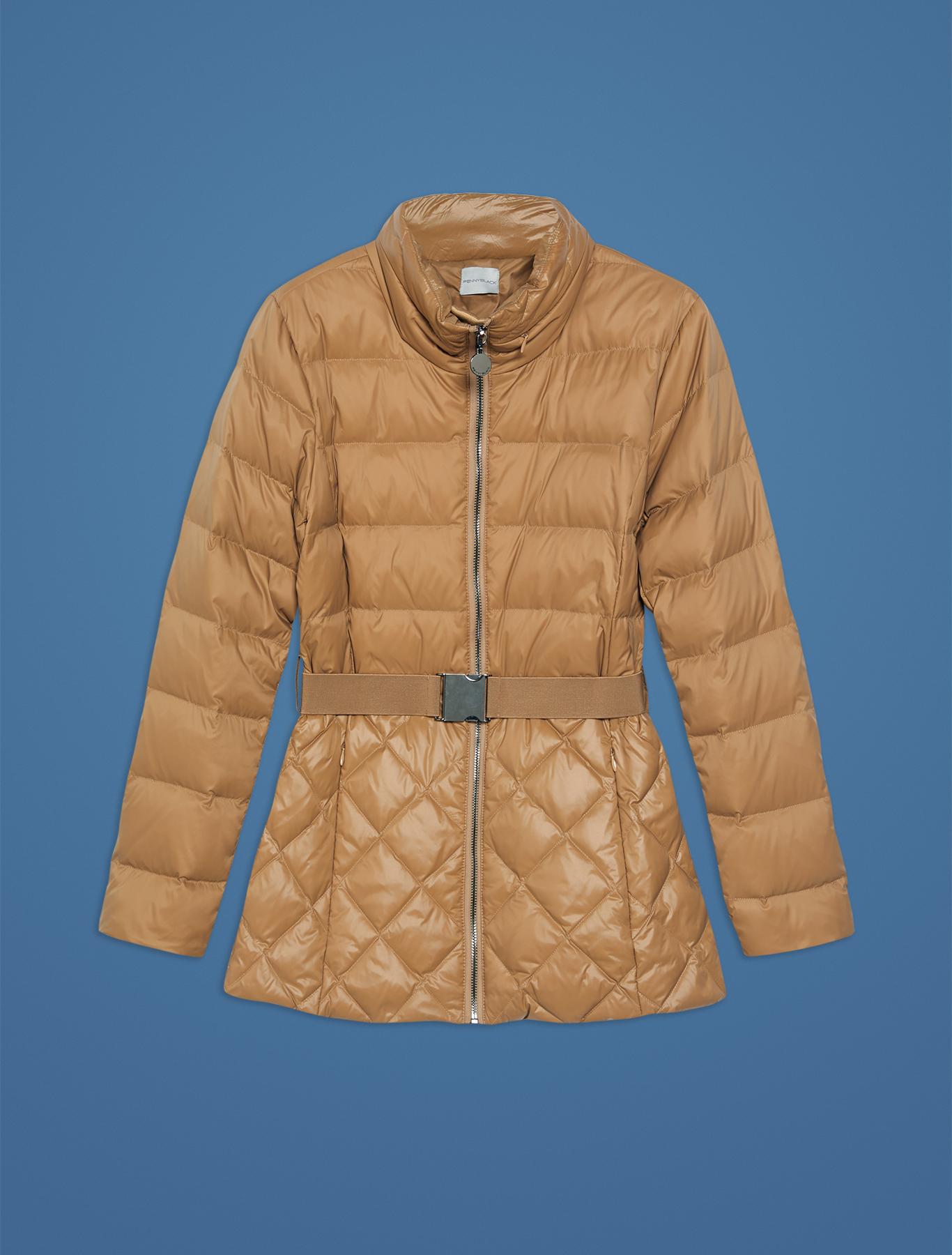 Slim fit matt-glossy down jacket - beige - pennyblack