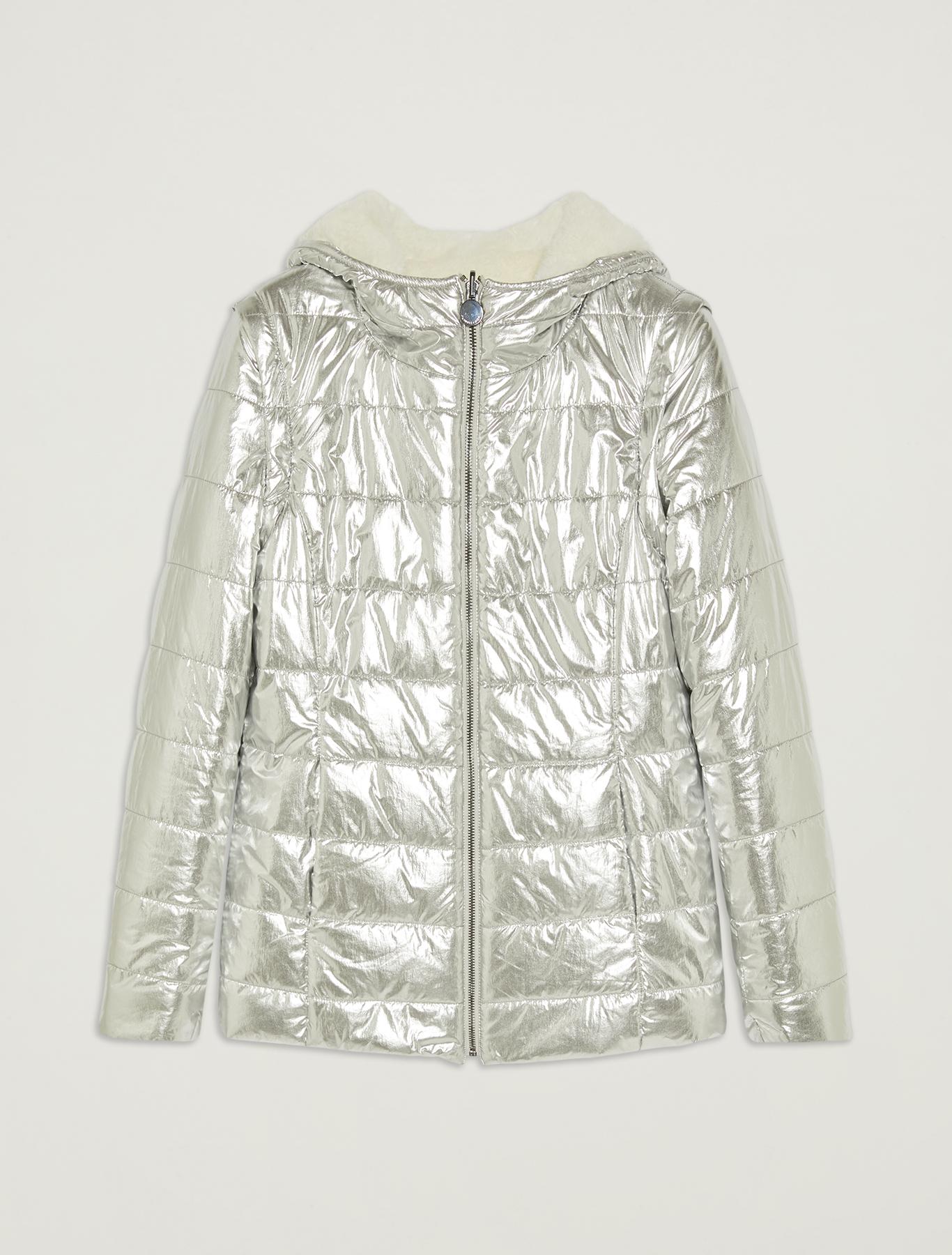 Reversible laminated jacket - ivory - pennyblack