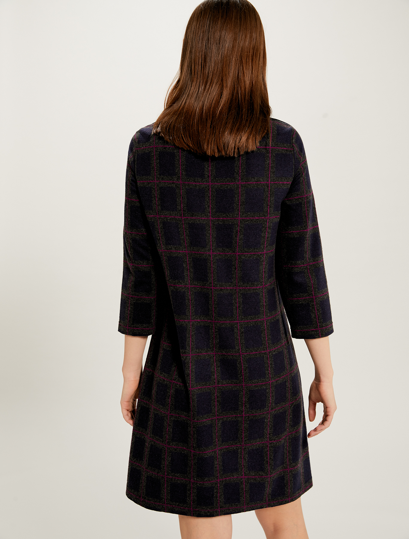 Jacquard jersey dress - navy blue pattern - pennyblack