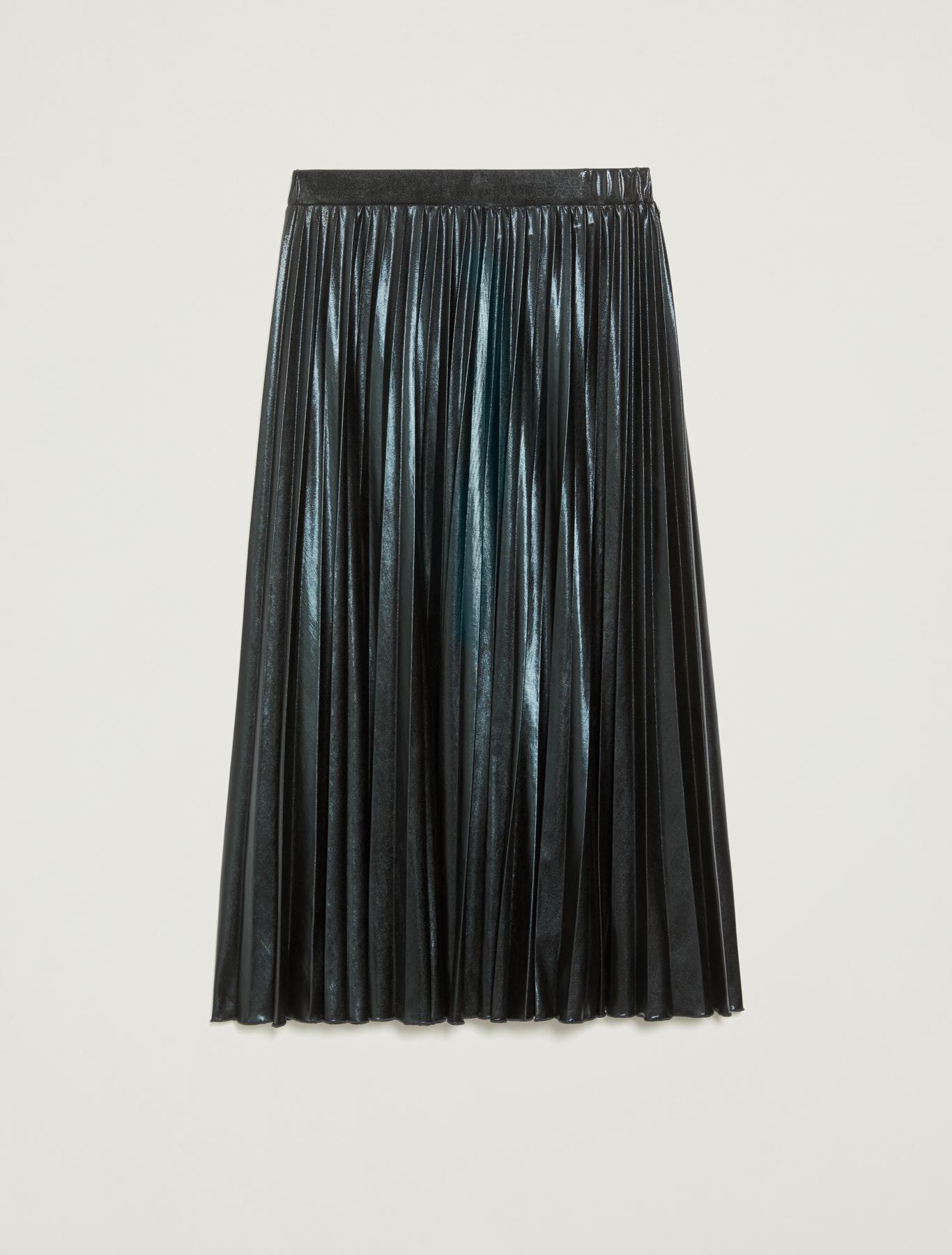 Laminated pleated midi skirt - cornflower blue - pennyblack