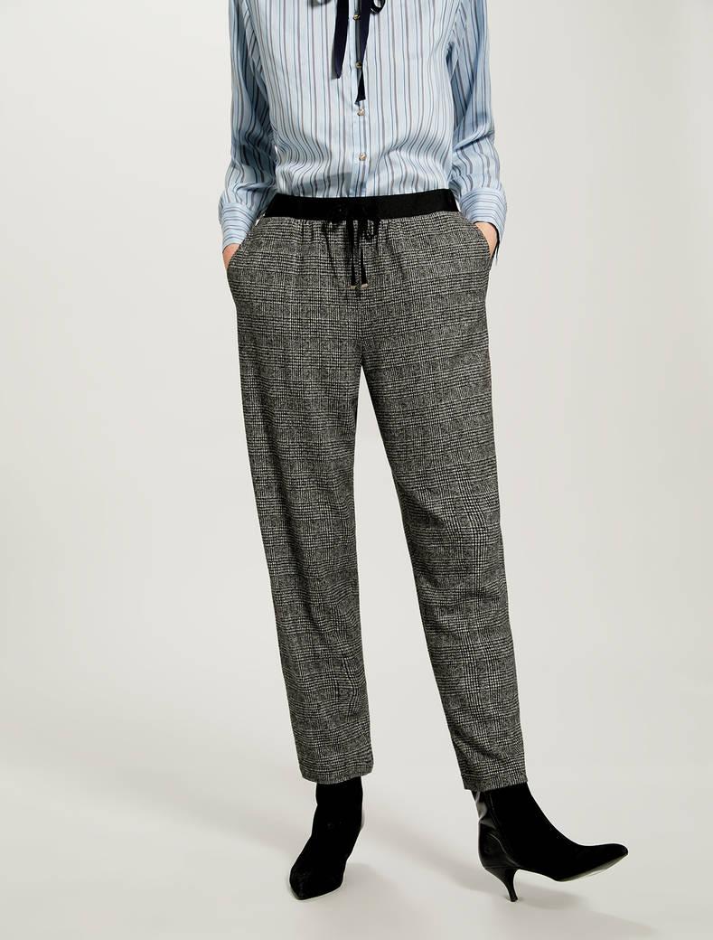 Pantaloni in jersey jacquard - fantasia nero - pennyblack
