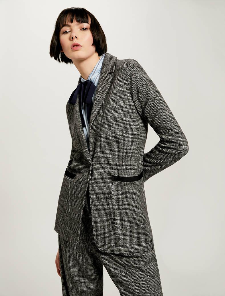 Jacquard jersey blazer - black pattern - pennyblack