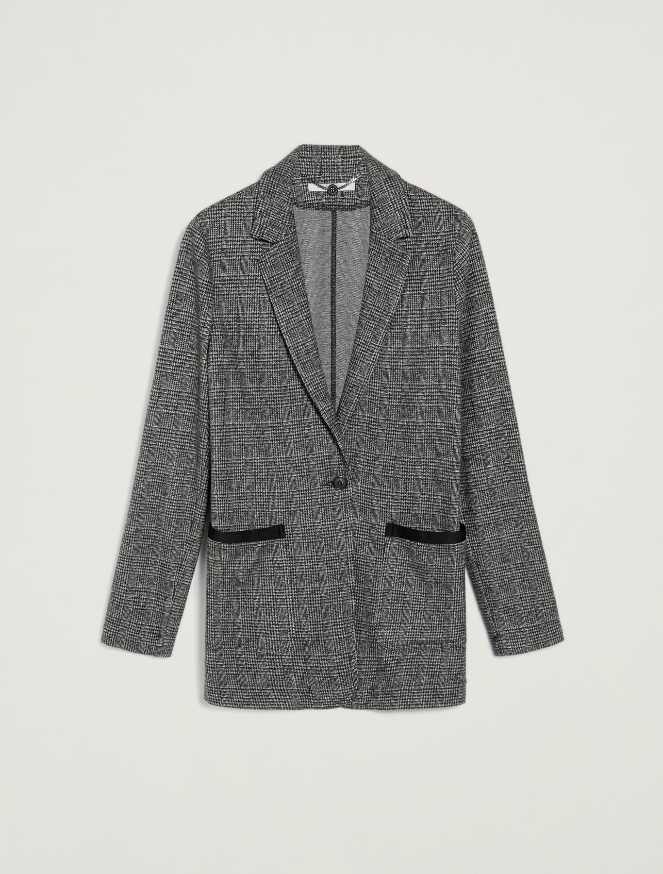 Blazer in jersey jacquard - fantasia nero - pennyblack