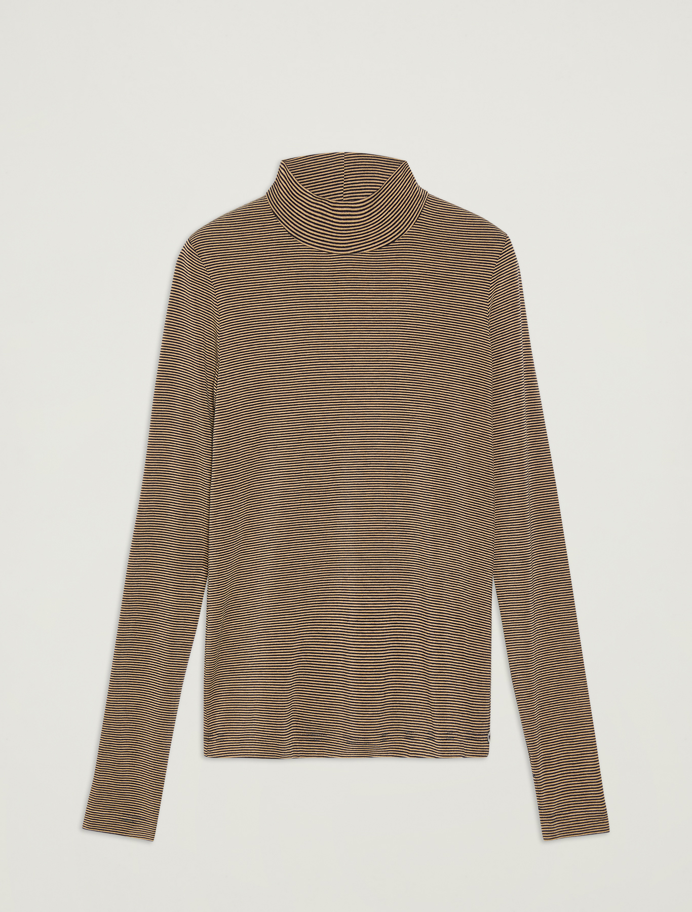 Turtleneck cotton T-shirt - navy blue pattern - pennyblack