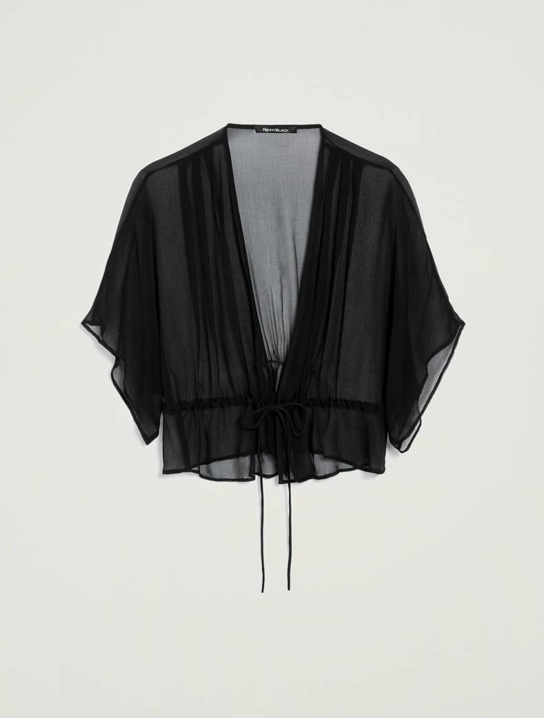 Coprispalle kimono con coulisse - nero - pennyblack